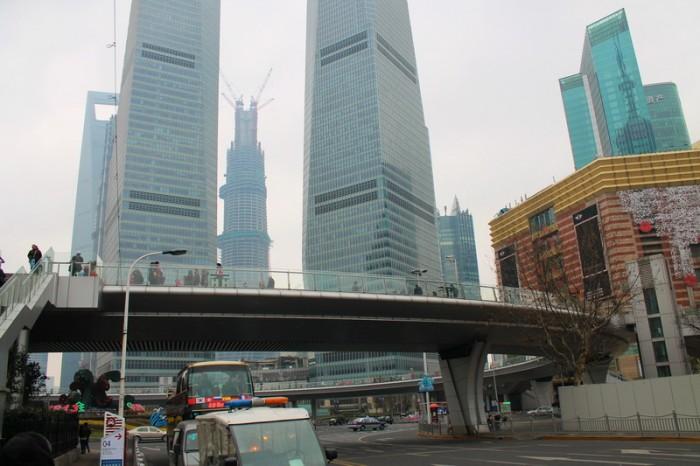 Пешеходный переход в Шанхае