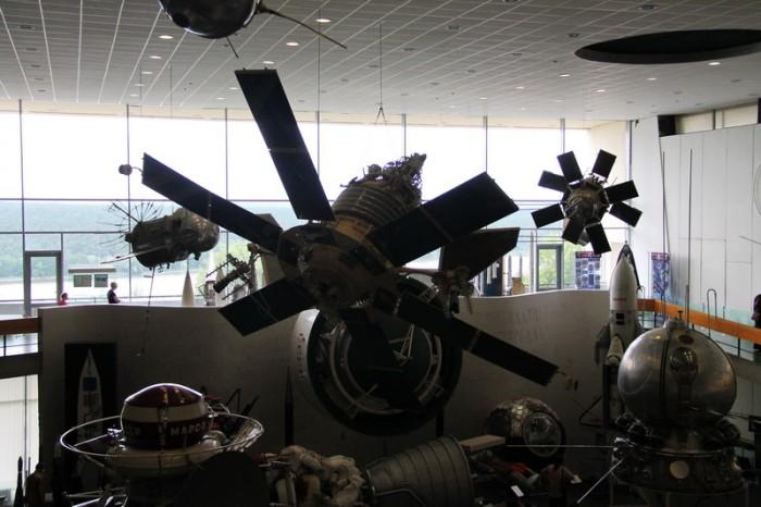 экспозиция музея космонавтики в Калуге